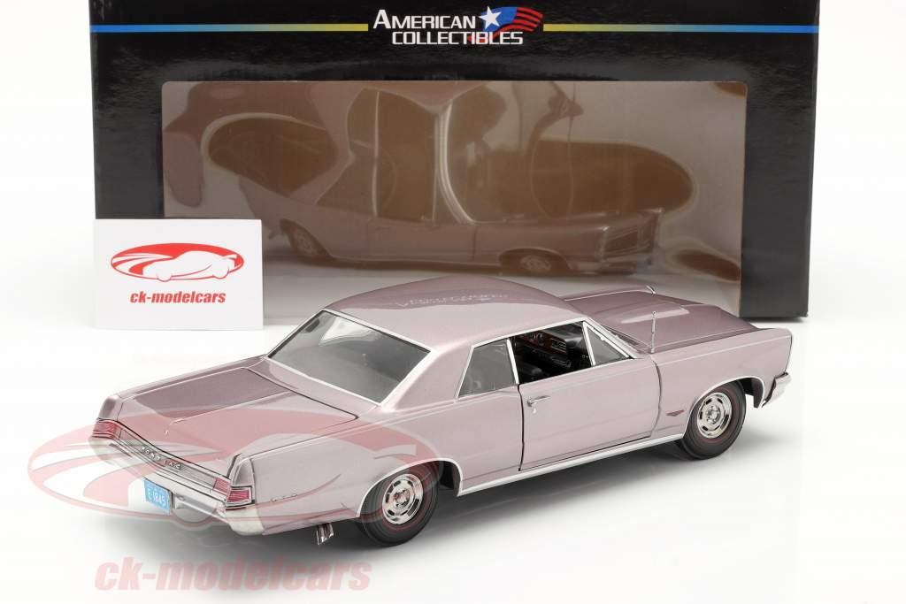 Pontiac GTO Año de construcción 1965 gris violeta metálico 1:18 SunStar