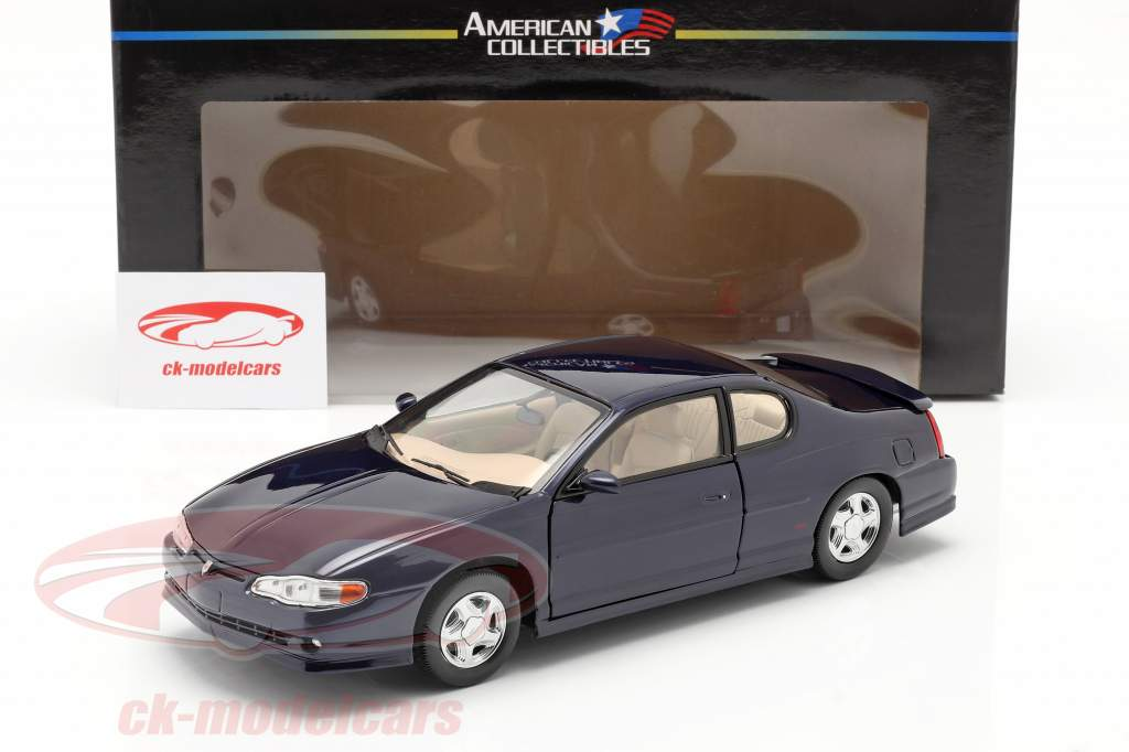Chevrolet Monte Carlo SS Bouwjaar 2000 navy blauw 1:18 SunStar