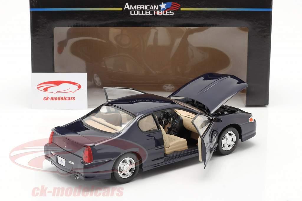 Chevrolet Monte Carlo SS Año de construcción 2000 navy azul 1:18 SunStar