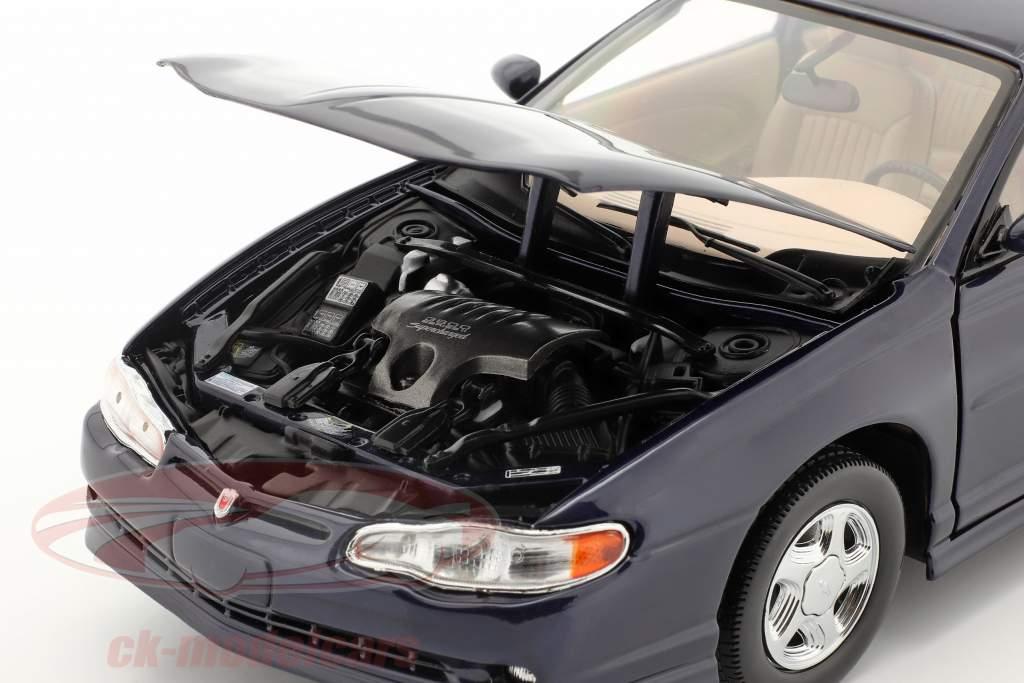 Chevrolet Monte Carlo SS Année de construction 2000 navy bleu 1:18 SunStar