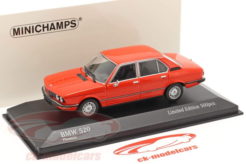 BMW 520 Ano de construção 1974 phoenix vermelho 1:43 Minichamps
