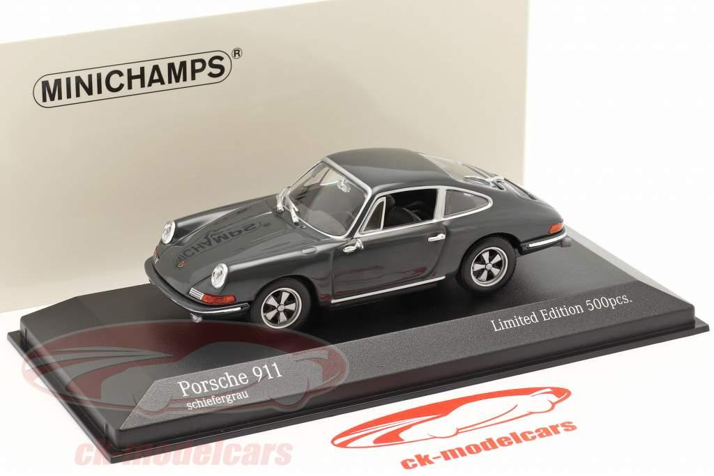Porsche 911 Baujahr 1964 schiefergrau 1:43 Minichamps