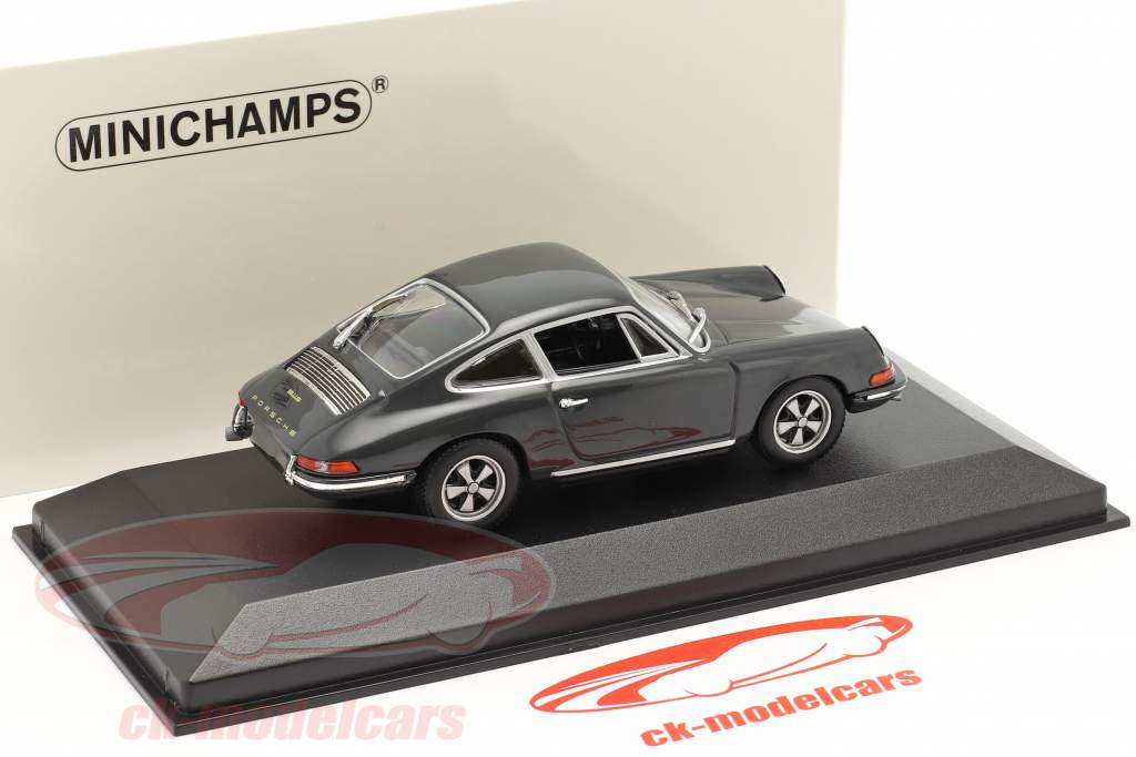 Porsche 911 Ano de construção 1964 ardósia cinzento 1:43 Minichamps