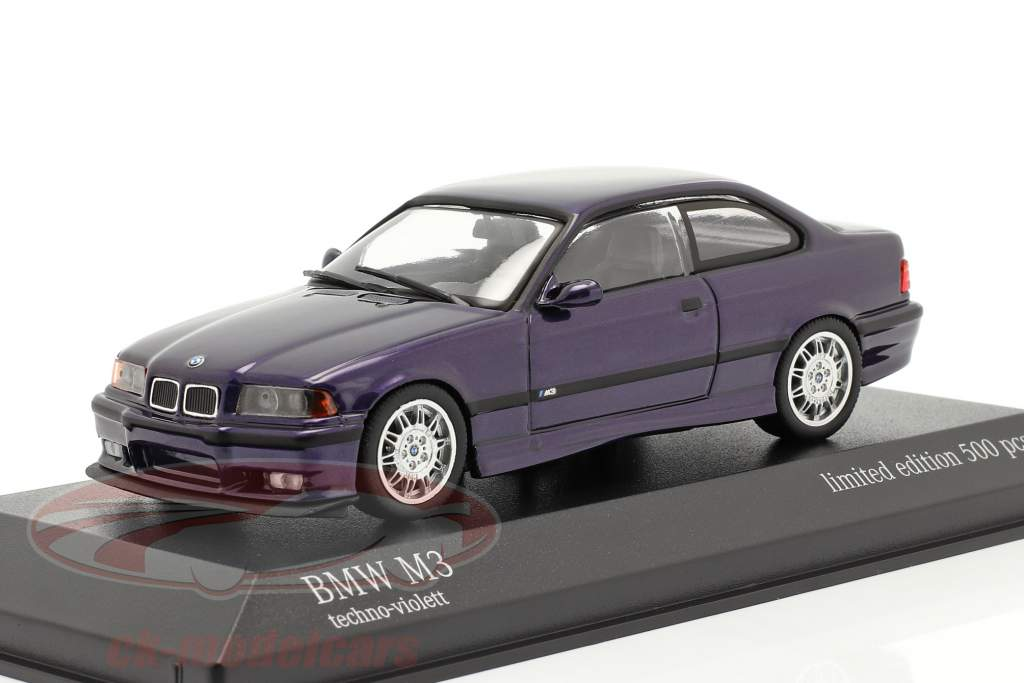 BMW M3 (E36) Año de construcción 1992 tecno Violeta 1:43 Minichamps