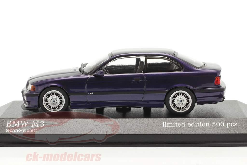 BMW M3 (E36) Année de construction 1992 techno violet 1:43 Minichamps