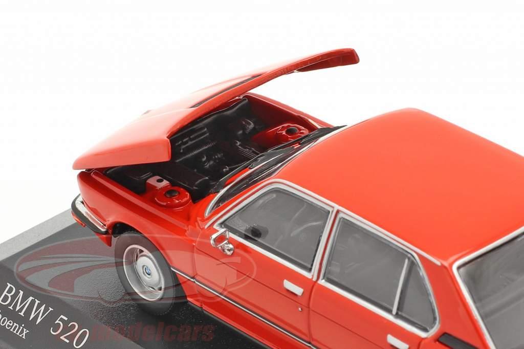 BMW 520 Baujahr 1974 phoenix rot 1:43 Minichamps