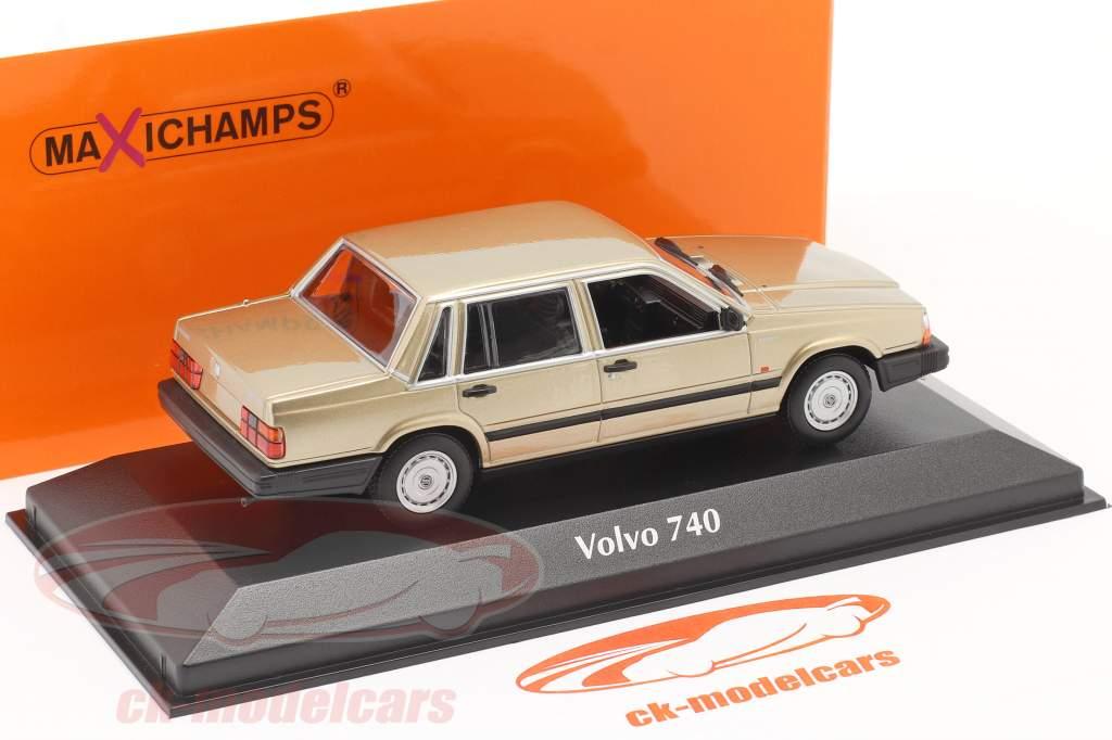 Volvo 740 GL Byggeår 1986 guld metallisk 1:43 Minichamps