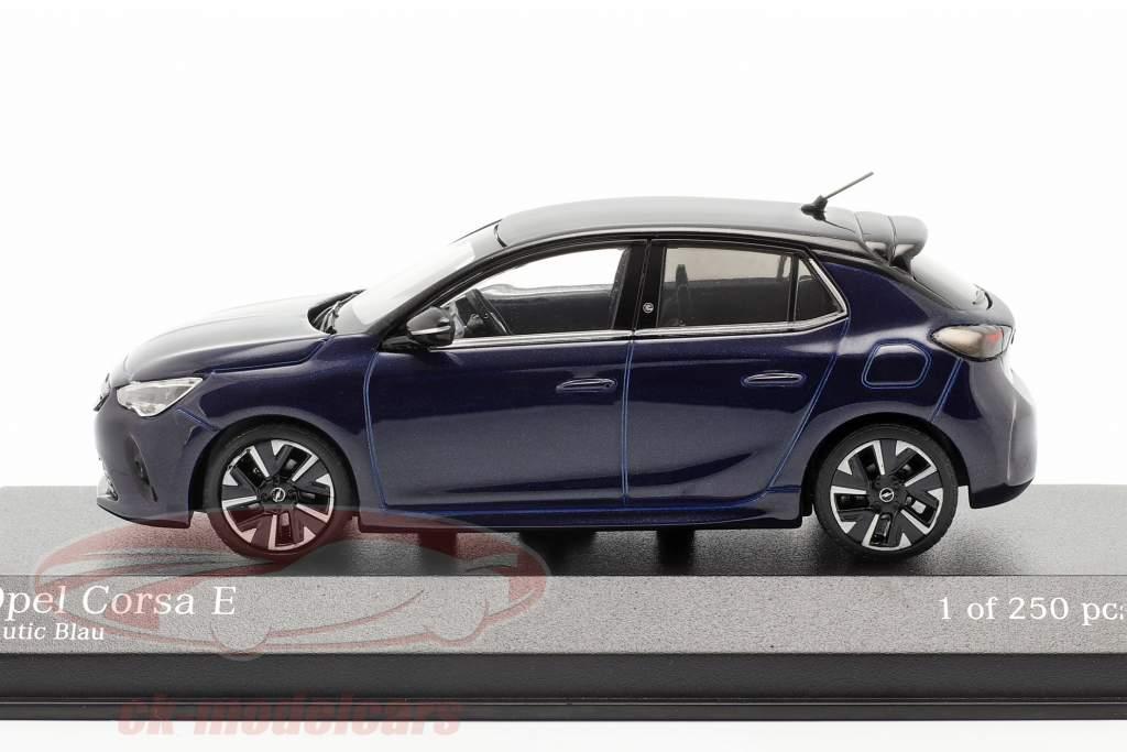 Opel Corsa E Bouwjaar 2019 blauw metalen 1:43 Minichamps