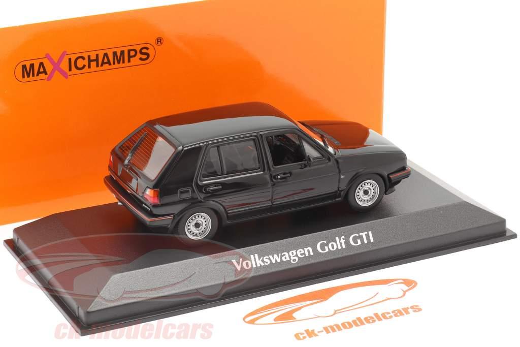 Volkswagen VW Golf II GTi 4-türig Baujahr 1985 schwarz 1:43 Minichamps
