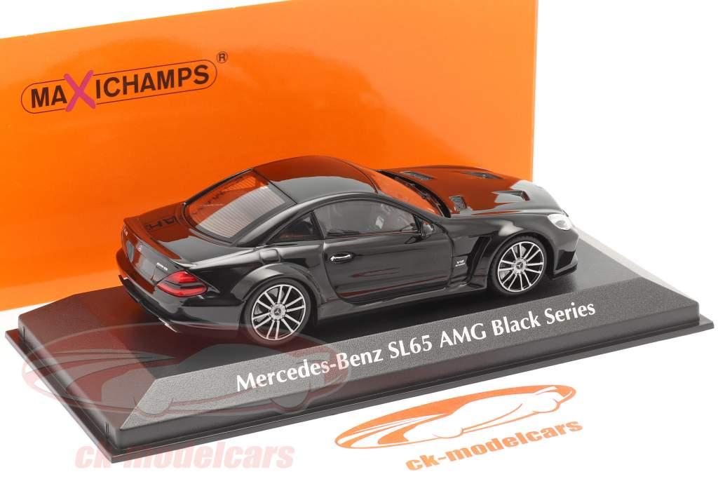 Mercedes-Benz SL65 AMG Black Series (R230) 2009 schwarz 1:43 Minichamps