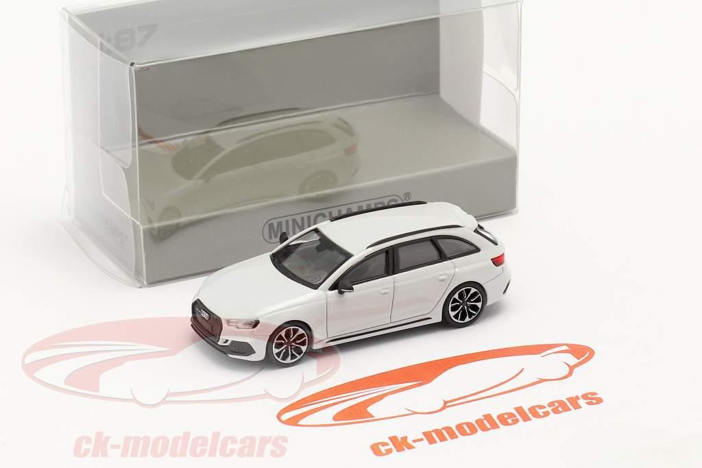 Audi RS4 Avant Année de construction 2018 glacier blanc 1:87 Minichamps