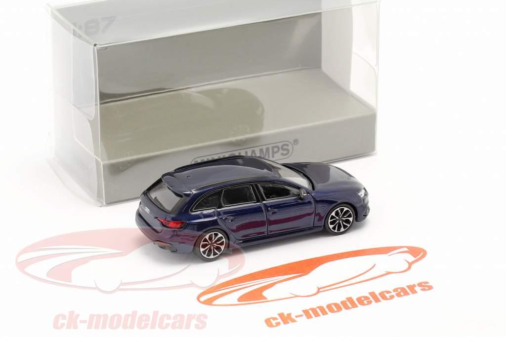 Audi RS4 Avant Ano de construção 2018 navarra azul 1:87 Minichamps