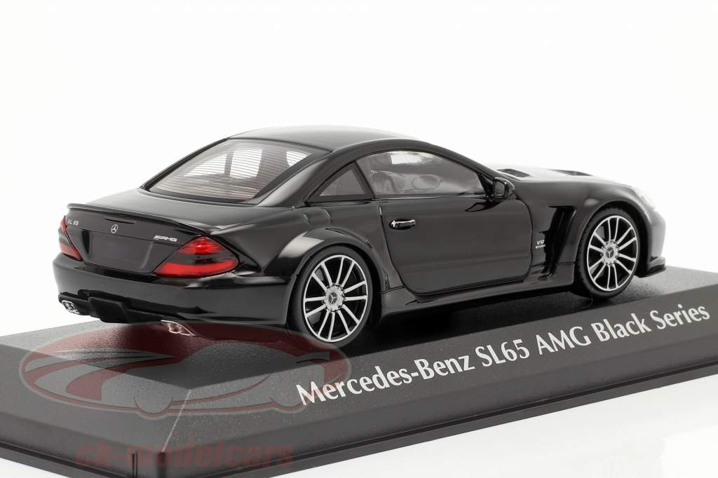 Mercedes-Benz SL65 AMG Black Series (R230) 2009 nero 1:43 Minichamps