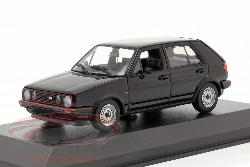 Volkswagen VW Golf II GTi 4 portes Année de construction 1985 noir 1:43 Minichamps