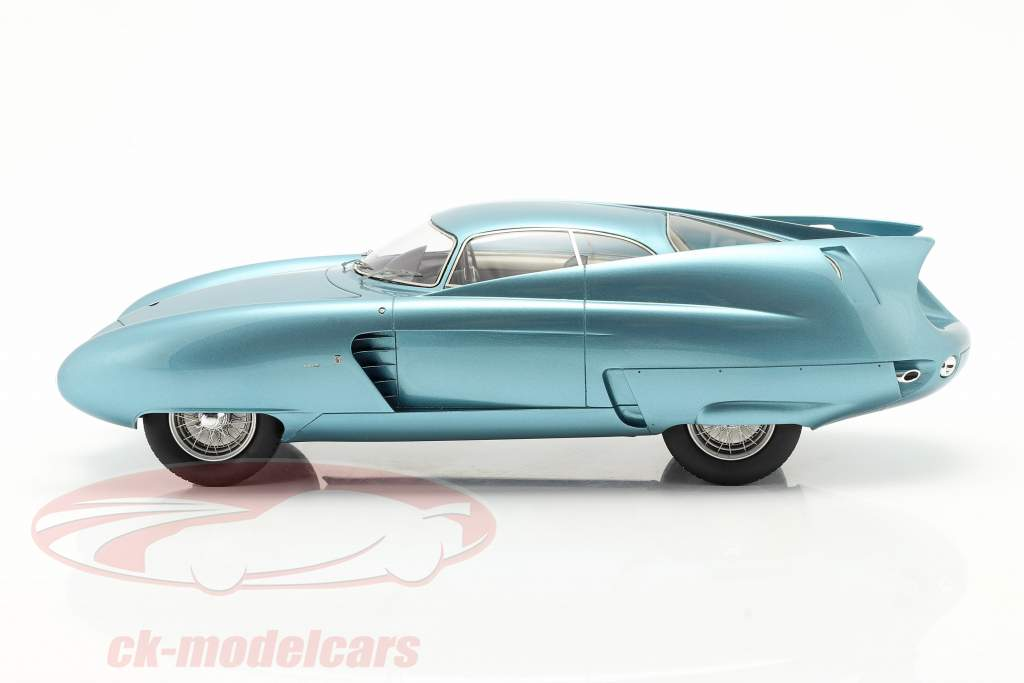 Alfa Romeo B.A.T. 7 Bouwjaar 1954 licht blauw metalen 1:18 Matrix