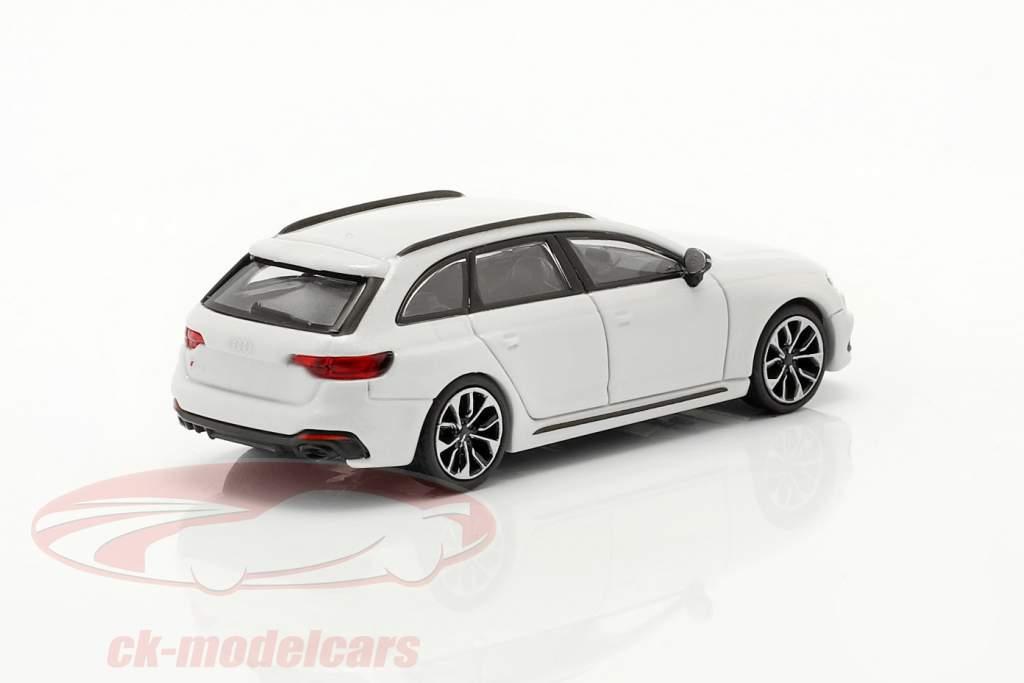Audi RS4 Avant Anno di costruzione 2018 ghiacciaio bianca 1:87 Minichamps