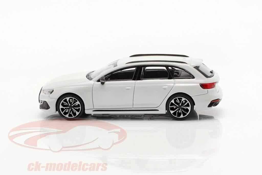 Audi RS4 Avant Año de construcción 2018 glaciar Blanco 1:87 Minichamps