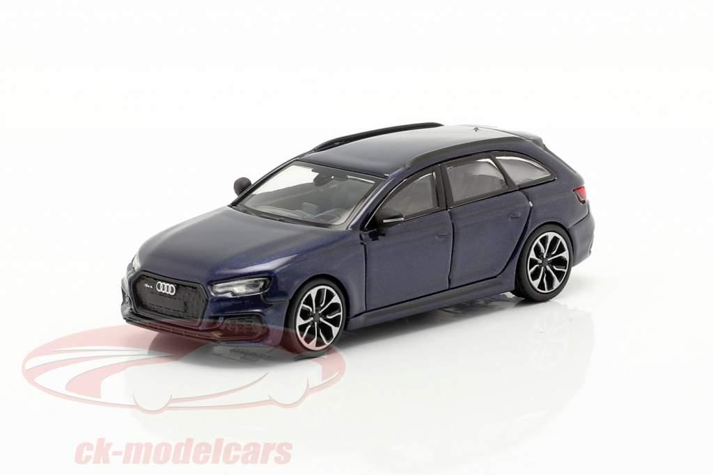 Audi RS4 Avant Año de construcción 2018 navarra azul 1:87 Minichamps