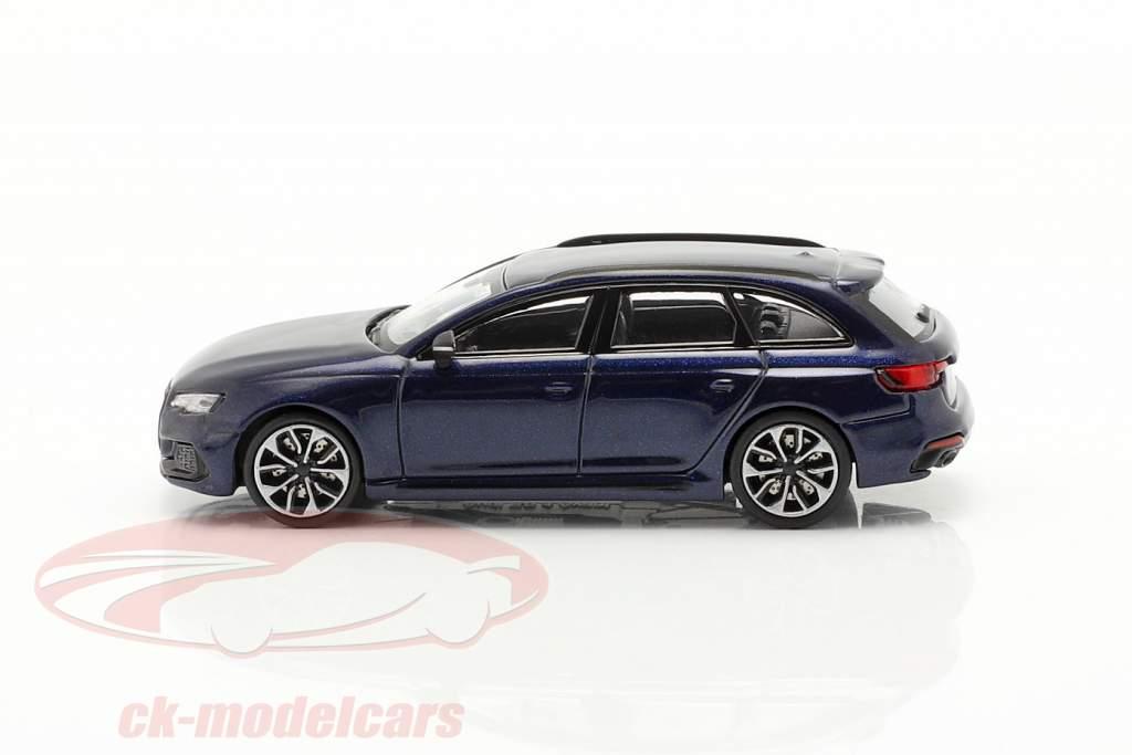 Audi RS4 Avant Byggeår 2018 navarra blå 1:87 Minichamps