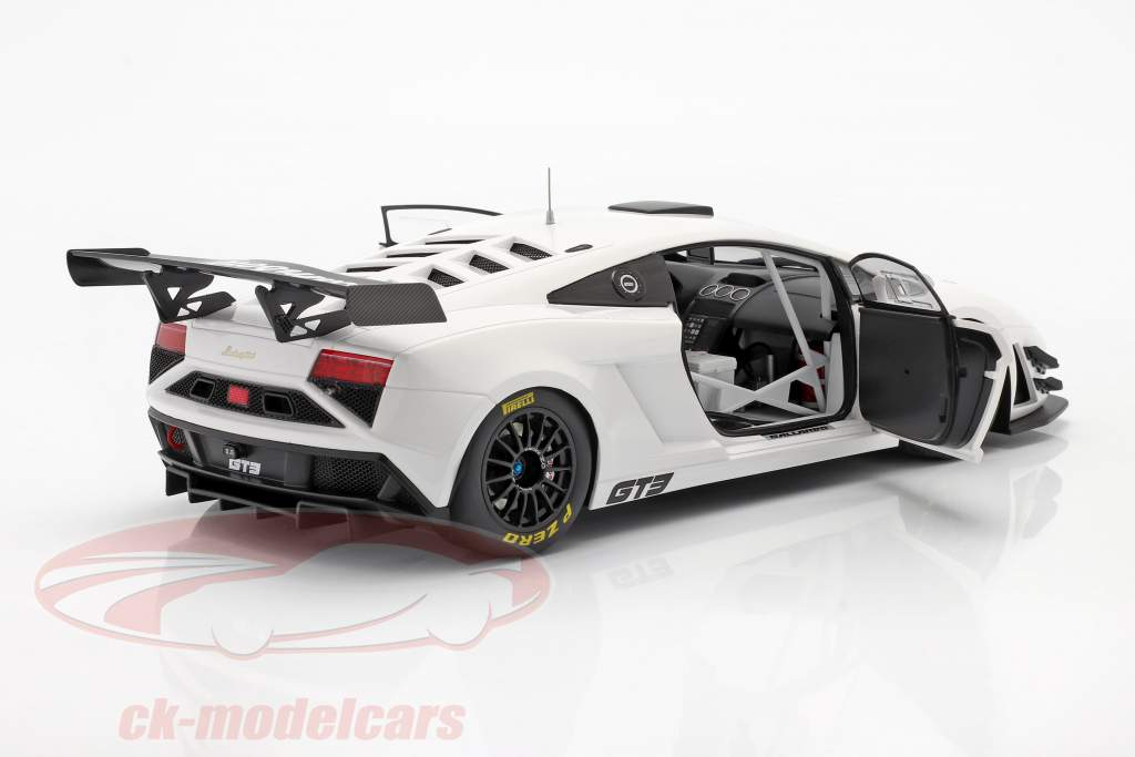 Lamborghini Gallardo GT3 FL2 År 2013 hvid 1:18 AUTOart