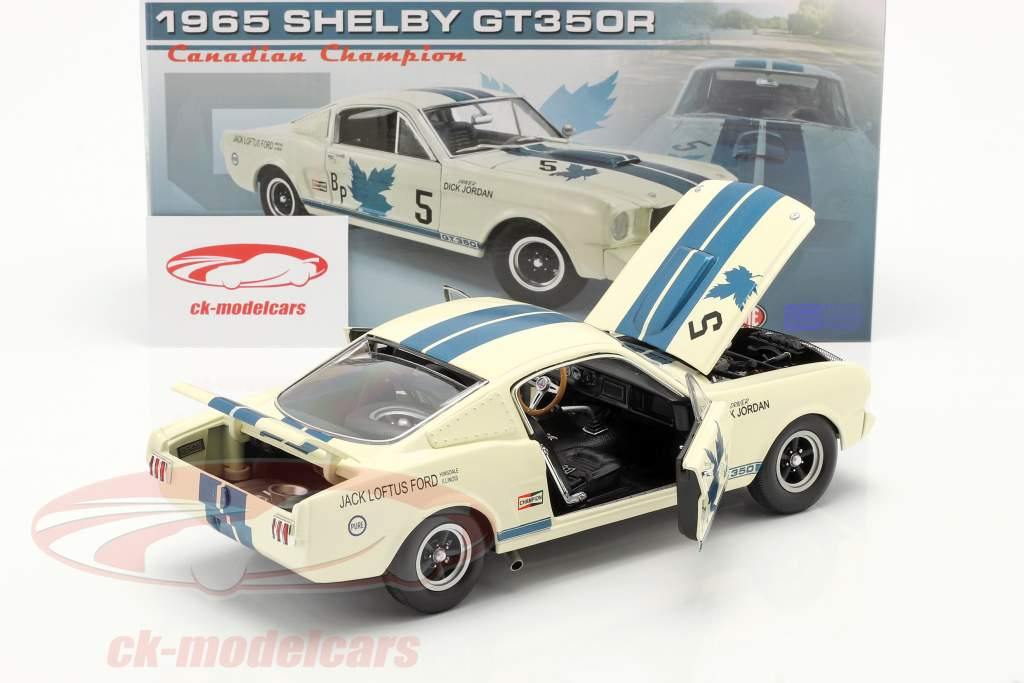 Ford Mustang Shelby GT 350R #5 Dick Jordan canadese campione 1965 1:18 GMP
