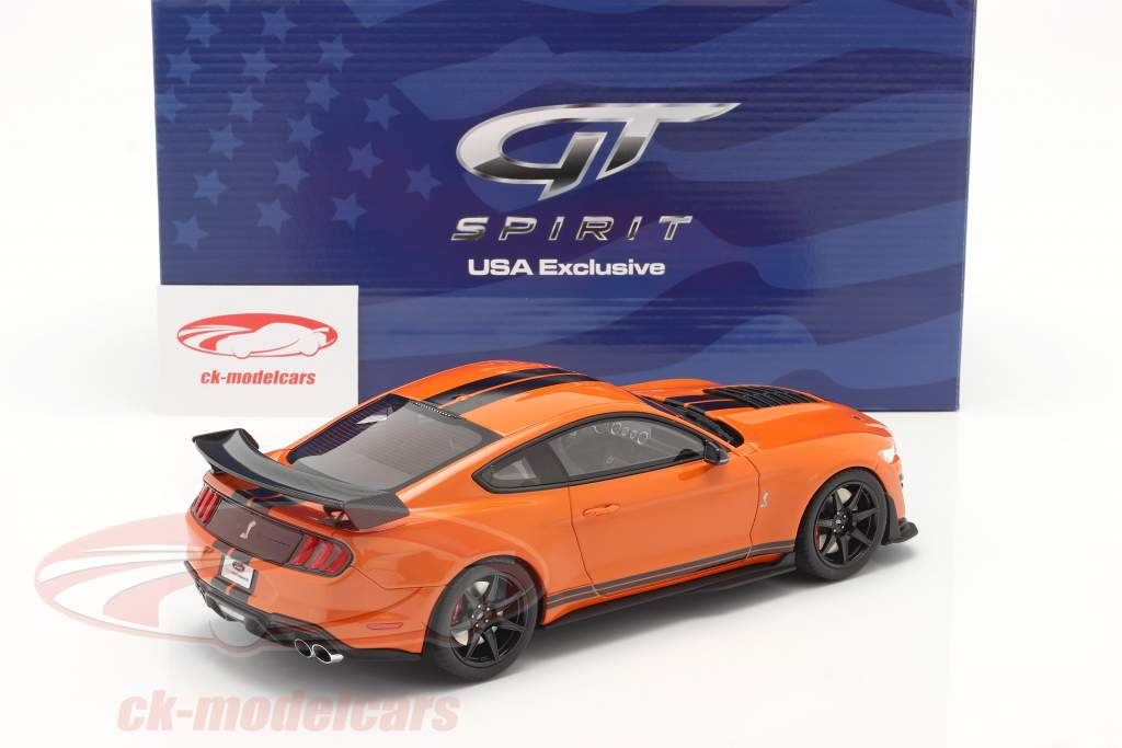 Ford Mustang Shelby GT500 Année de construction 2020 twister Orange / noir 1:18 GT-Spirit