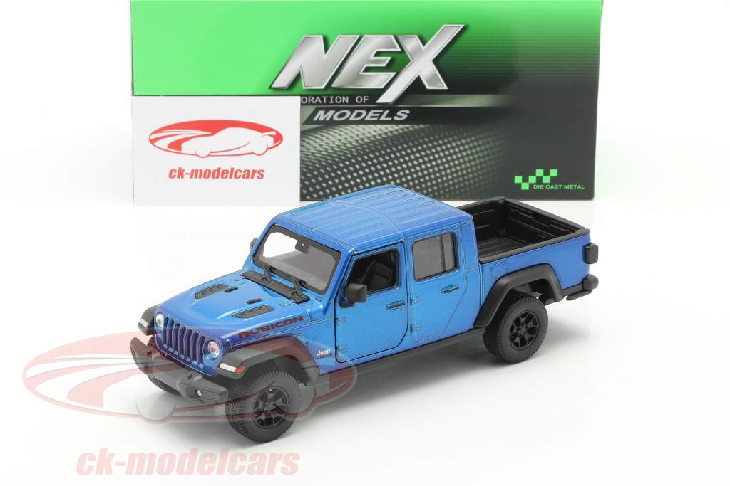 Jeep Gladiator Rubicon Pick-Up Año de construcción 2020 azul metálico 1:24 Welly