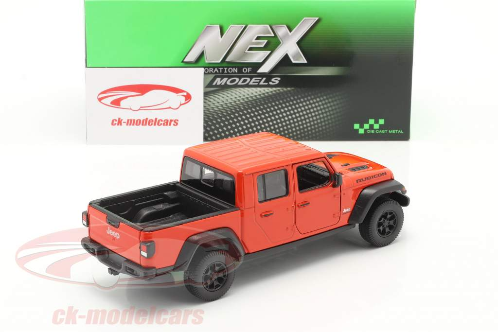Jeep Gladiator Rubicon Pick-Up year 2020 orange red 1:24 Welly