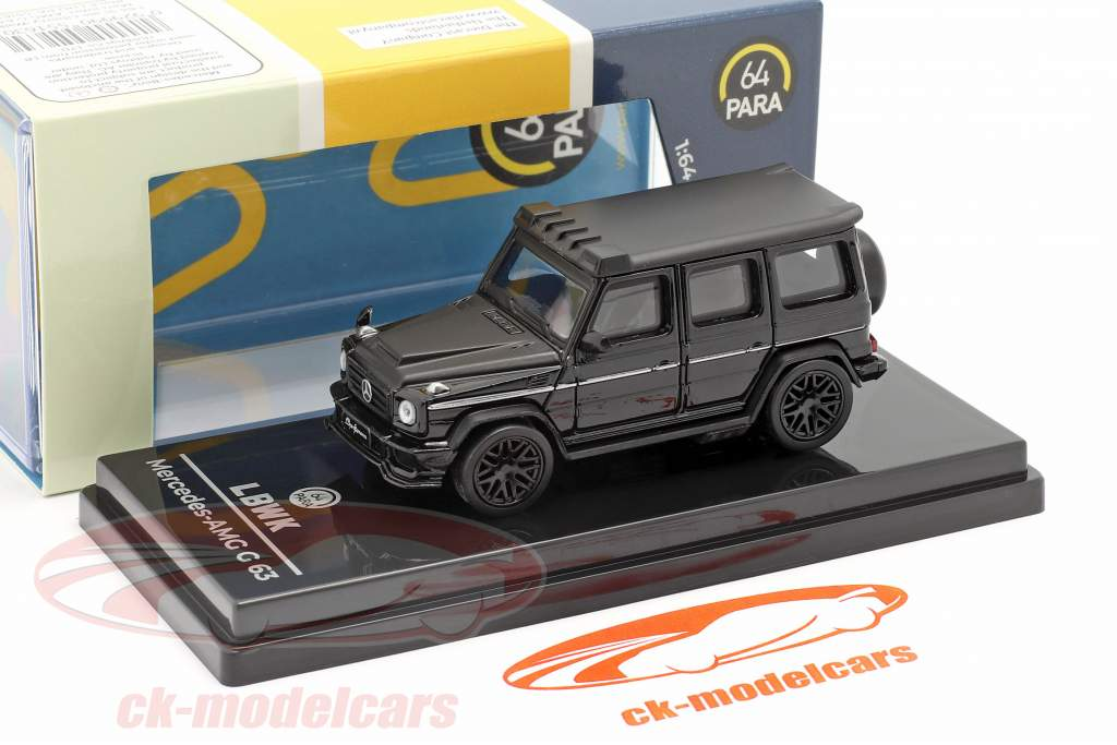 Mercedes-Benz AMG C63 Liberty Walk 2018 black 1:64 Paragon Models