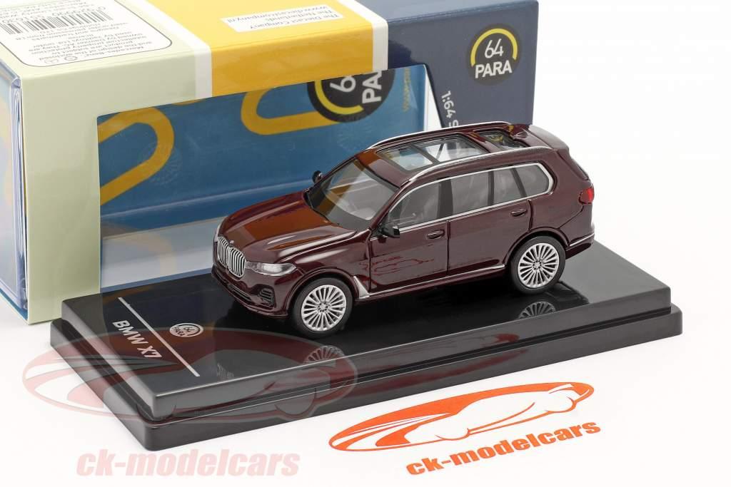 BMW X7 (G07) LHD Année de construction 2019 ametrine rouge métallique 1:64 Paragon Models