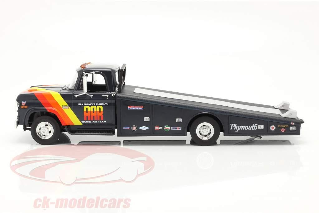 Dodge D300 Ramp Truck 1970 AAR Trans Am Team blå 1:18 GMP