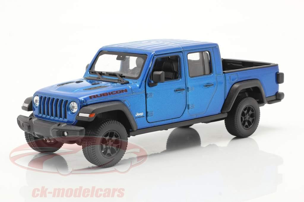 Jeep Gladiator Rubicon Pick-Up Baujahr 2020 blau metallic 1:24 Welly