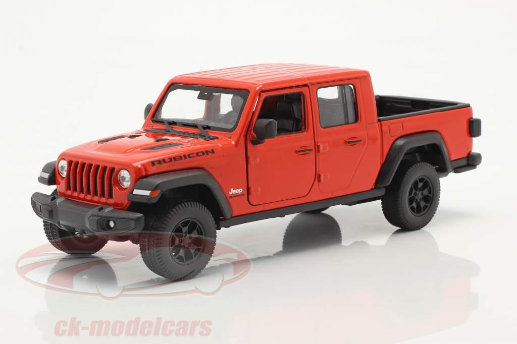Jeep Gladiator Rubicon Pick-Up Baujahr 2020 orange-rot 1:24 Welly