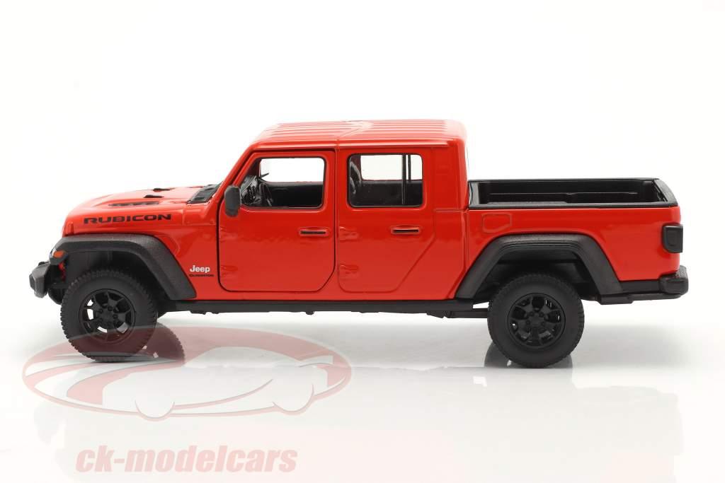 Jeep Gladiator Rubicon Pick-Up Año de construcción 2020 rojo naranja 1:24 Welly