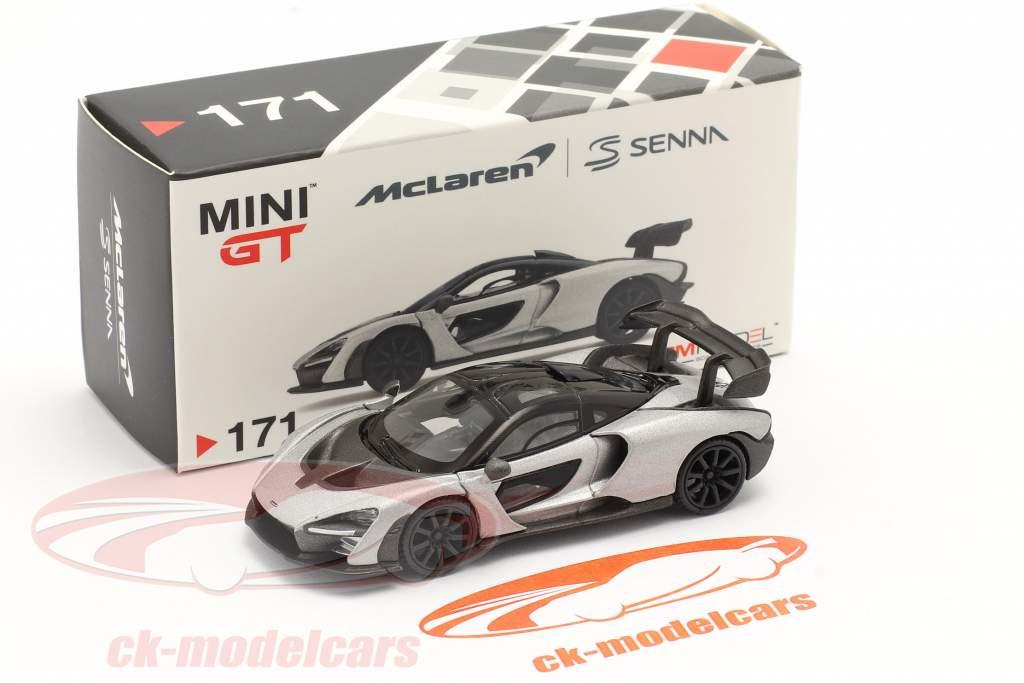 McLaren Senna LHD Año de construcción 2018 plata 1:64 TrueScale