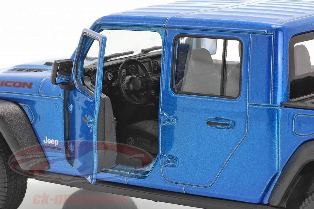 Jeep Gladiator Rubicon Pick-Up Bouwjaar 2020 blauw metalen 1:24 Welly