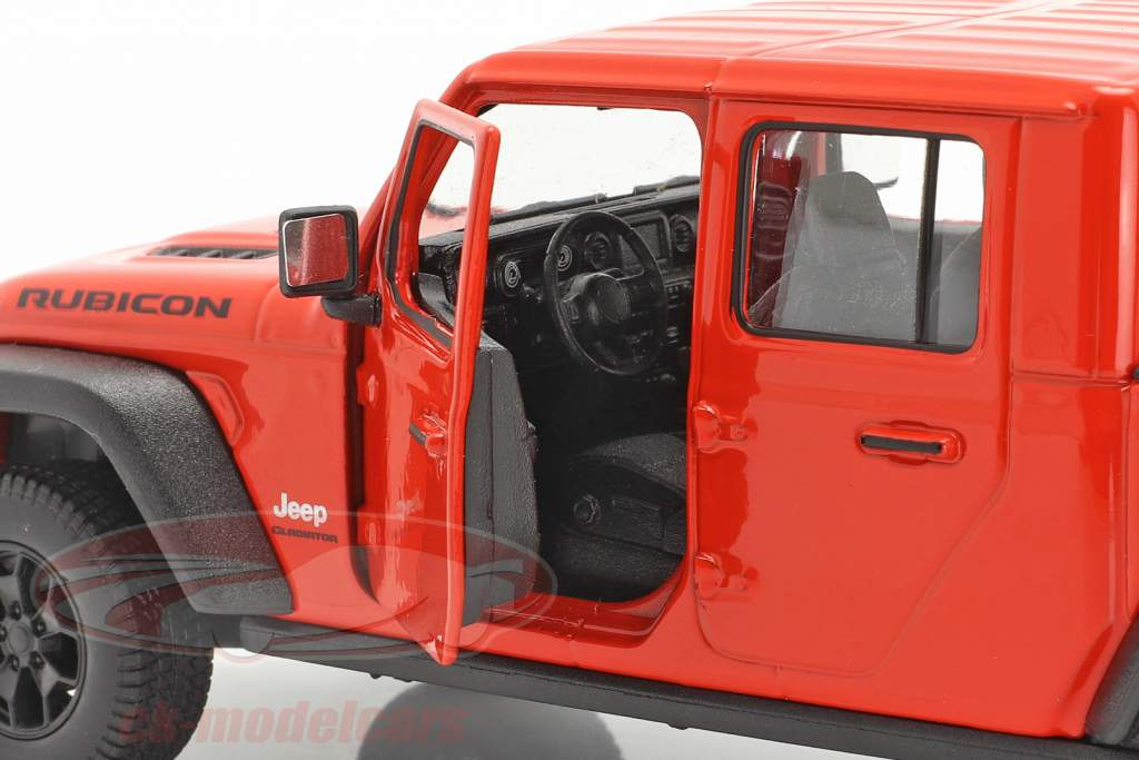 Jeep Gladiator Rubicon Pick-Up Byggeår 2020 Orange rød 1:24 Welly