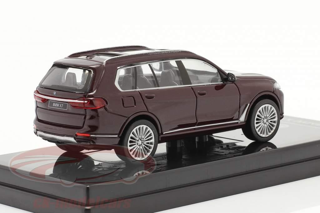 BMW X7 (G07) LHD Año de construcción 2019 ametrine rojo metálico 1:64 Paragon Models