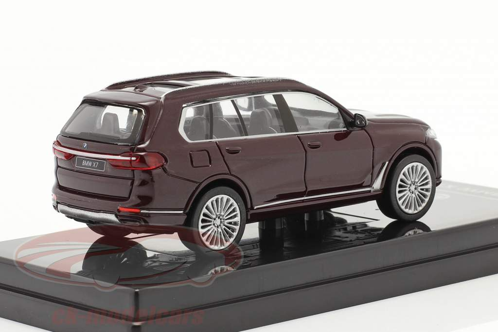 BMW X7 (G07) LHD Byggeår 2019 ametrine rød metallisk 1:64 Paragon Models