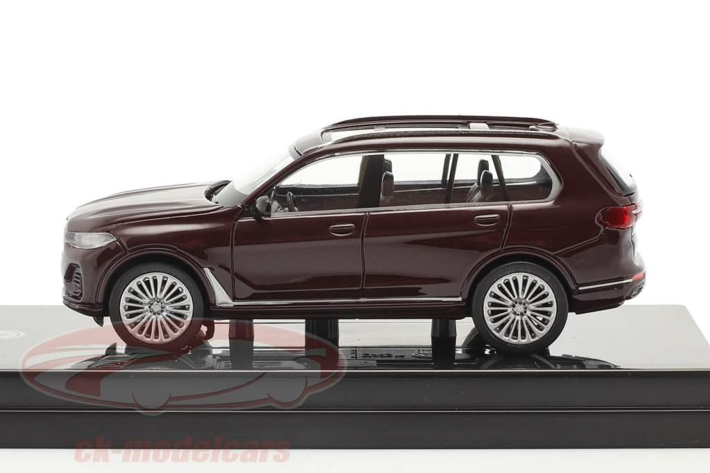 BMW X7 (G07) LHD Anno di costruzione 2019 ametrine rosso metallico 1:64 Paragon Models