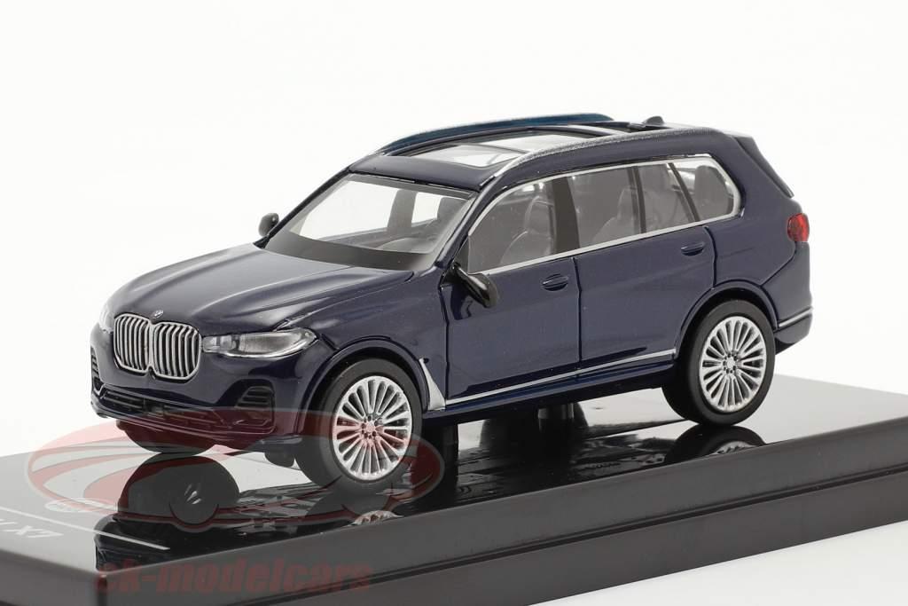 BMW X7 (G07) LHD Bouwjaar 2019 tanzanite blauw 1:64 Paragon Models