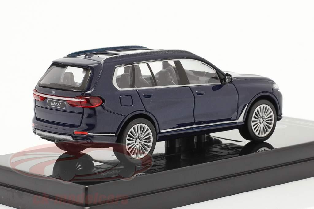 BMW X7 (G07) LHD Byggeår 2019 tanzanite blå 1:64 Paragon Models
