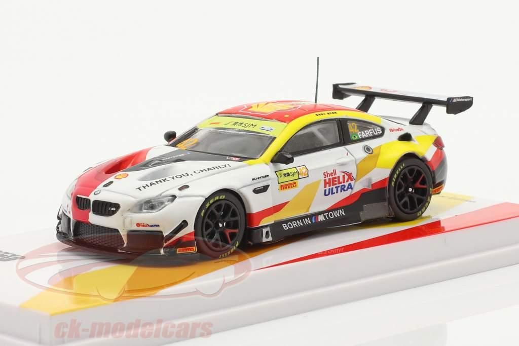 BMW M6 GT3 #42 gagnant FIA GT World Cup Macau 2018 Farfus 1:64 Tarmac Works