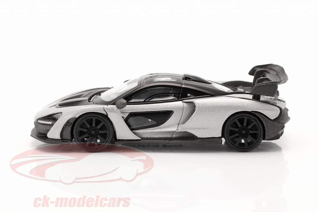McLaren Senna LHD Année de construction 2018 argent 1:64 TrueScale