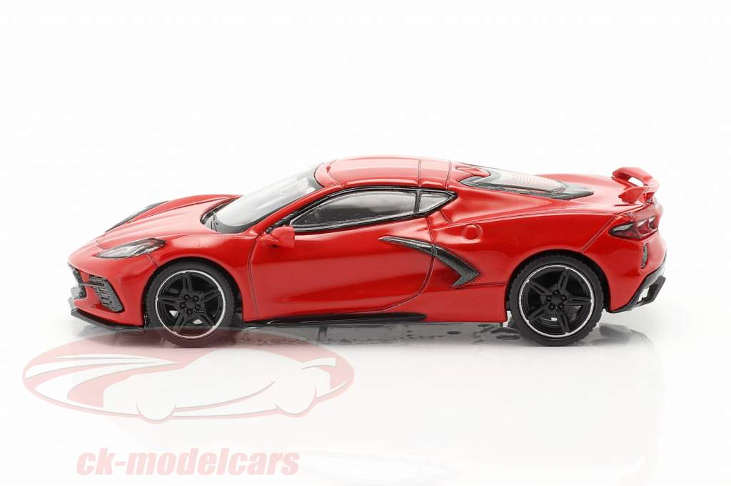 Chevrolet Corvette C8 Stingray Byggeår 2020 fakkel rød 1:64 TrueScale