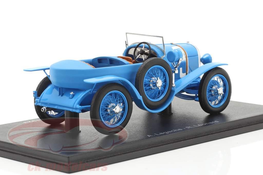 Chenard & Walcker Sport #9 winnaar 24h LeMans 1923 Lagache, Leonard 1:43 Spark