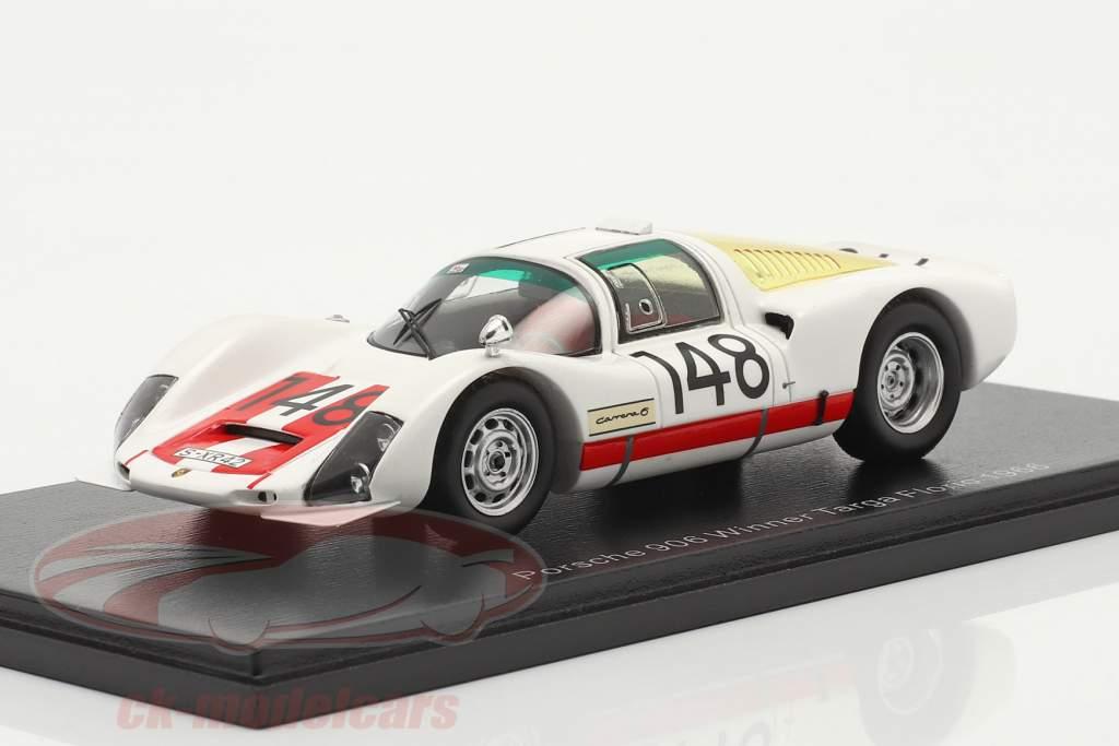 Porsche 906 #148 ganador Targa Florio 1966 Mairesse, Müller 1:43 Spark