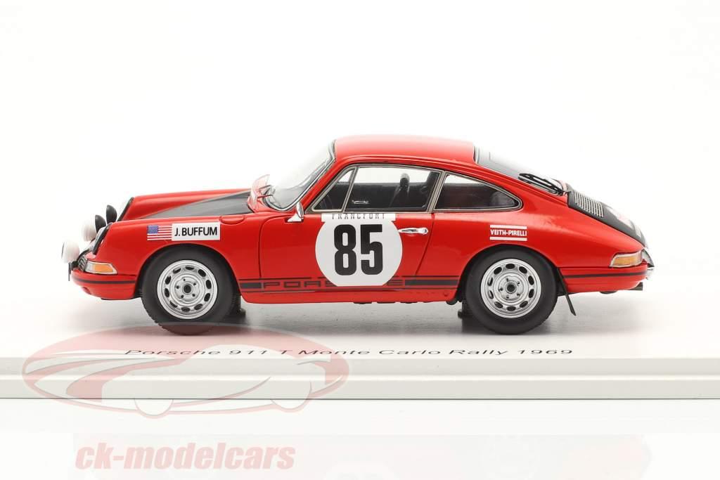 Porsche 911 T #85 Rallye Monte Carlo 1969 Buffum, Behr 1:43 Spark