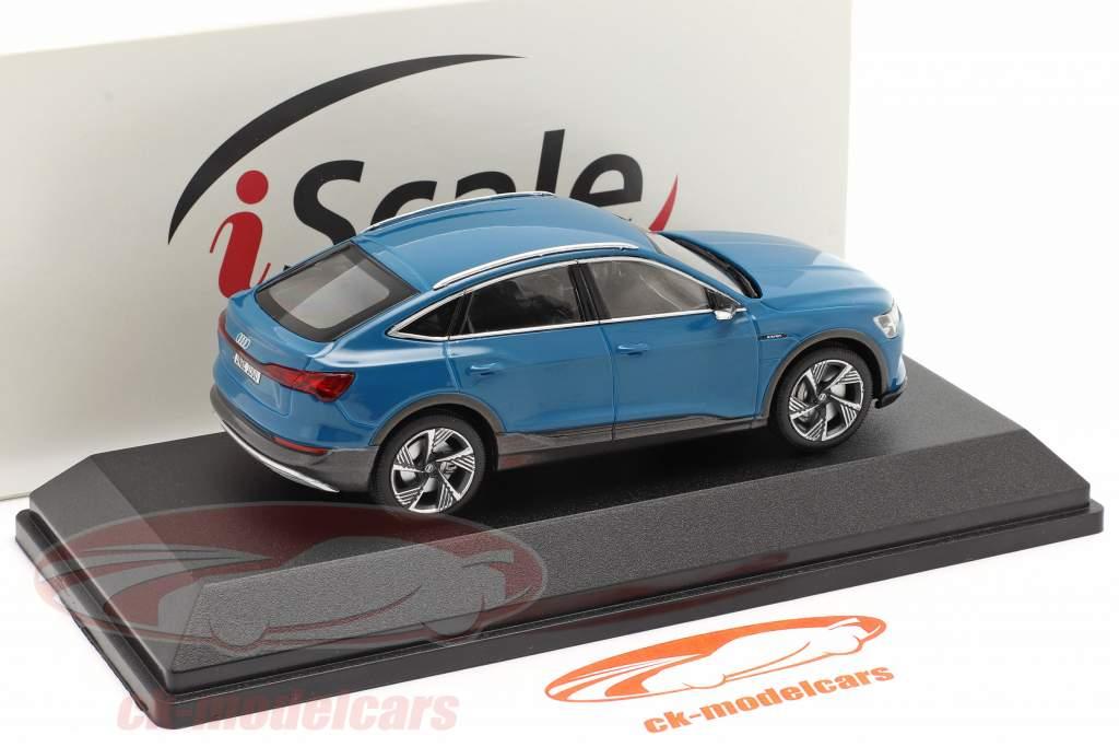 Audi e-tron Sportback Baujahr 2020 antigua blau 1:43 iScale