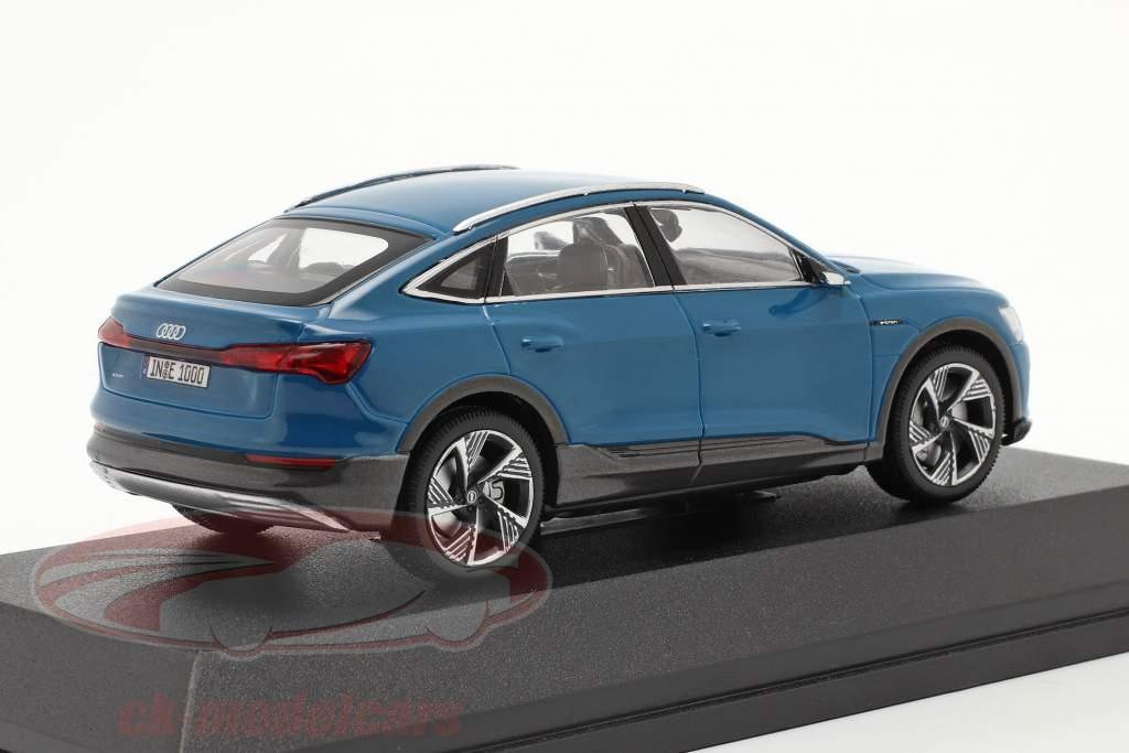 Audi e-tron Sportback Byggeår 2020 antigua blå 1:43 iScale